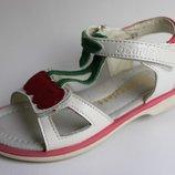Босоножки для девочки кожаные 25-30р Scarllet