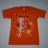 Детская футболка для девочки. р. 110.