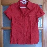 Рубашка красная 8-ка С-ка лен