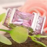 Изысканый розовый кварц в серебре