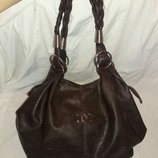 сумка CHANEL с шоколадного цвета Экокожа