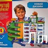 Детский игровой гараж 922 6 уровней парковки, 4 машинки ,новый