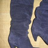 40р-26 см замша синие сапоги Bata Made in Italy