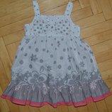 1 - 2 года 86 см Next Некст Прикольное летнее платье сарафан