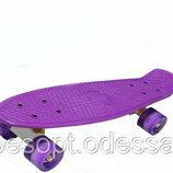 Пенни борд Penny Board скейтборд розовый, синий, фиолетовый