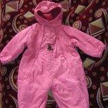 Теплый комбинезон Родео, розовый комбинезон Little one 80 - 98 см.