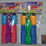 Скакалка с счетчиком мягкая ручка неоперенная разные цвета