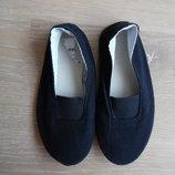 чешки обувь для танцев балетки 16см 26 рр тканевые черные новые