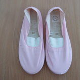 балетки чешки розовые обувь для танцев 22 см стелька новые LAVABLE
