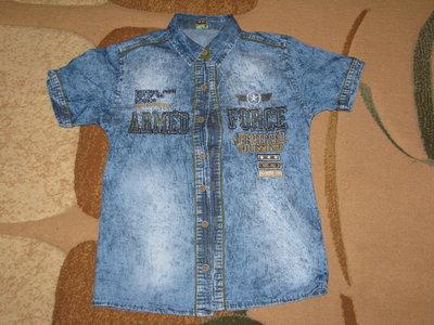 Рубашки джинсовые для мальчиков