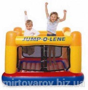 Надувной детский игровой центр - батут. Intex Playhouse Jump-O-Lene. 48260