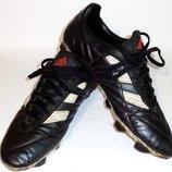 Бутсы кожаные футбольные Adidas Ground БФ 067 43 44 размер