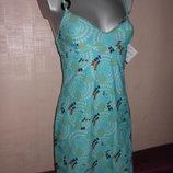 Франция Голубое пляжное платье Новое S/10/38