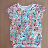 футболка майка футболка новая 104-110 см George Джорж яркая цветочный принт