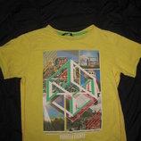 классная футболка на 9-10 лет, Принт