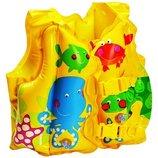 Детский надувной жилет intex 59661 рыбки 2-5 лет