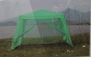 Павильон с москитной сеткой, тент, шатёр .3х3 м. Однотонный зелёный