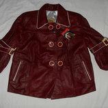 кожаная куртка , жакетик для девочки -Турция