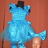 Карнавальный новогодний костюм Мальвина на возраст 4-10 лет