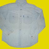 Джинсовая рубашка WINCH на кнопках,рост 134-146 см