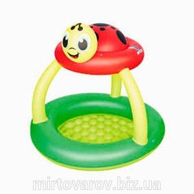 Детский надувной бассейн Божья коровка Bestway 52181 с навесом