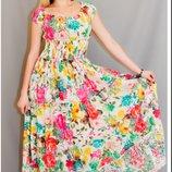 Платье женское летнее макси в пол хлопок - Индия р. 48-56