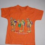 Хлопковая футболочка на малыша 12-18 мес.,сток