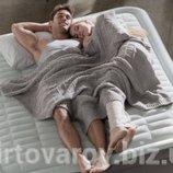 Надувная кровать со встроенным насосом 220В 152х203х46см Intex 64474