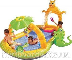 Водный детский игровой центр 53030 с солнцезащитным козырьком и душем