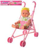 Кукла, пупс с коляской для куклы