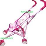 Коляска трость для кукол детская, металлический каркас, поворотные колёса