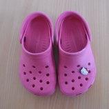 Кроксы аквашузы ветнамки 15,6 см детские оригинал Crocs Крокс обувь для пляжа бассейна розовые