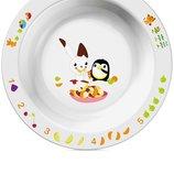 Маленькая детская тарелка Philips Avent SCF706/00 глубокая белая с рисунком,12 мес. , со склада