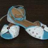 Бело-Голубые сандалии в наличии 36-41 разм
