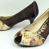Вечірні Стильні туфельки BROWN r.36