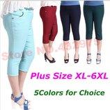 капри женские ХИТ большого размера 3XL-6XL штаны бриджи