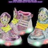 кроссовки детские Хит светящиеся с подсветкой кеды
