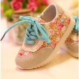 кроссовки детские Хит цветочные кеды