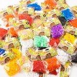 Резинки для плетения браслетов rainbow loom bands 300 шт. 25 цветов