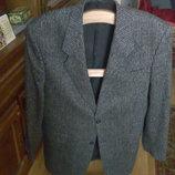 Пиджак мужской, темно-серый с полосами, L-XL 50, 52, 54