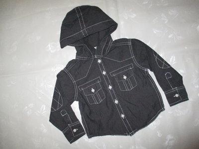 Джинсовая рубашка на мальчика 9-12мес