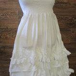 сарафан - юбка на резинке белый размер 44-46
