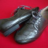 Туфли оксфорды Clarks Grey натур кожа 38 размер