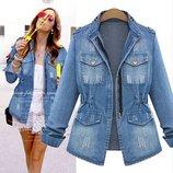 куртка джинсовая женская- ХИТ пиджак джинсовый