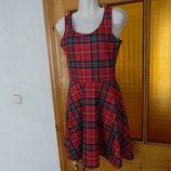 платье женское 36 18 лето клетка черное КРАСНОЕ Select