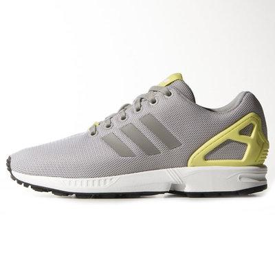Женские кроссовки Adidas ZX Flux - серые желтый 3840acf4de3