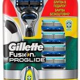 Кассеты Gillette Fusion ProGlide 4шт Станок с 1кассетой в подарок