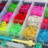 Набор Rainbow loom bands 4200 резинки для плетения браслетов со станком в пластиковом кейсе