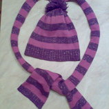 Шапочка шарфик для девочки 2-5 лет