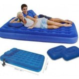 Комплект Bestway надувной ортопедический матрас 2 подушки насос